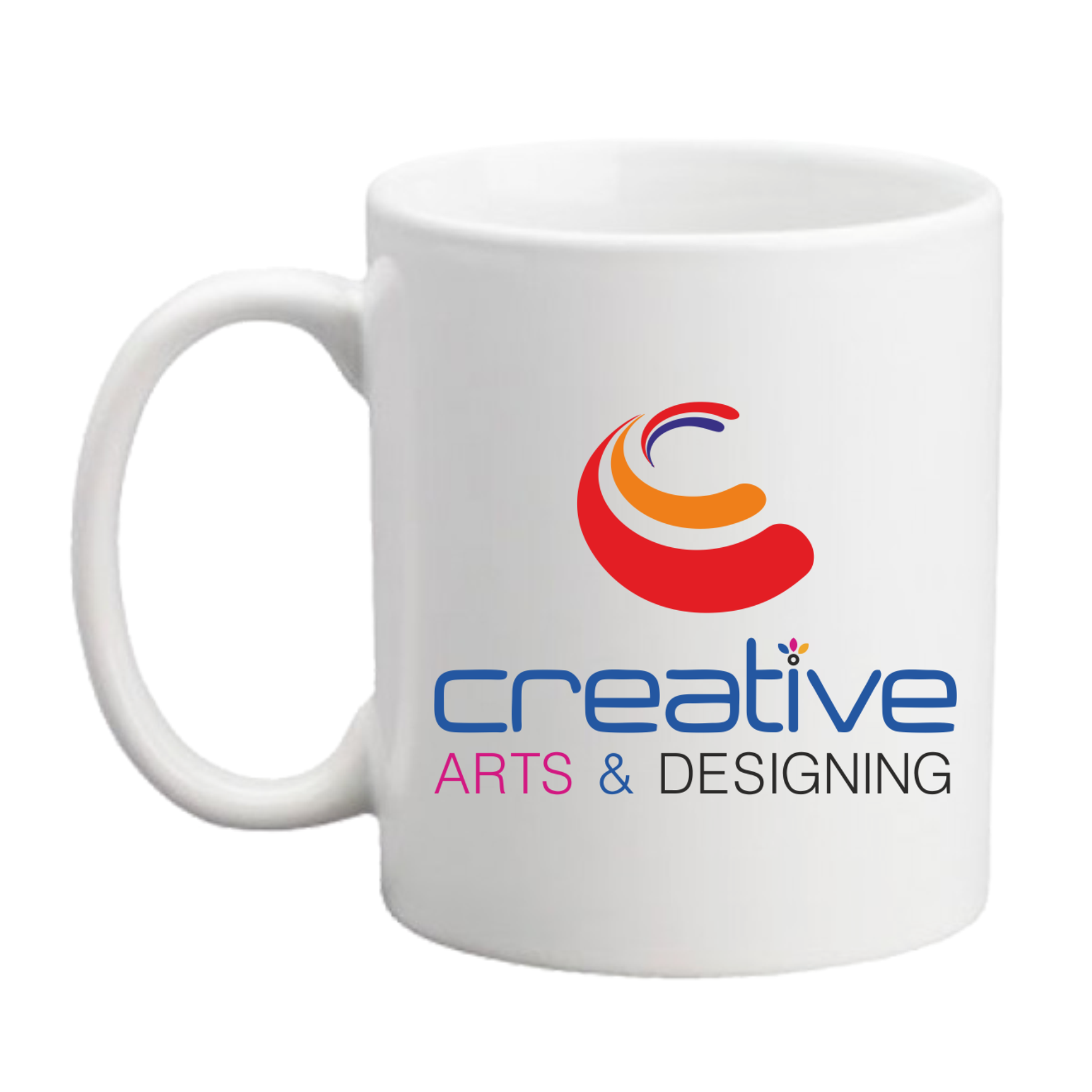 creative arts logo on coffee mug creative arts. Black Bedroom Furniture Sets. Home Design Ideas